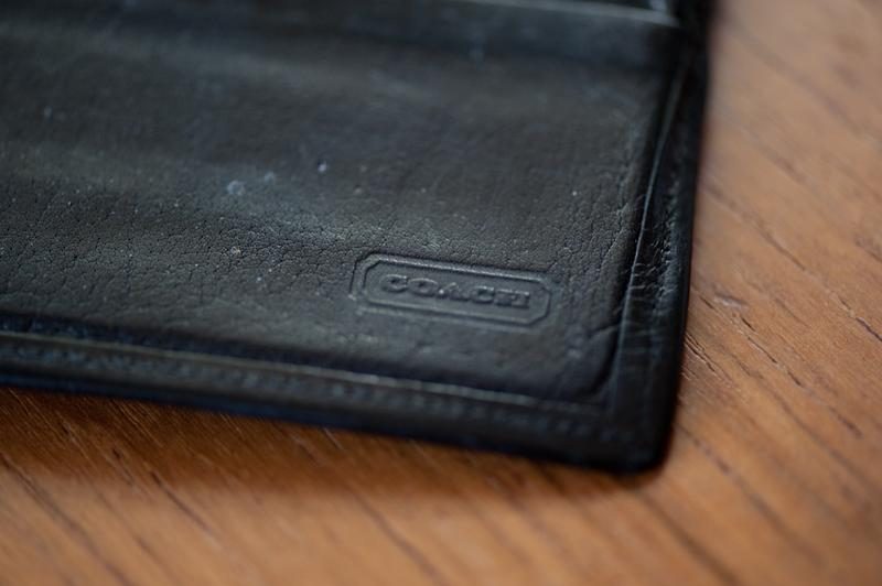 Coach Black Leather Wallet For Men