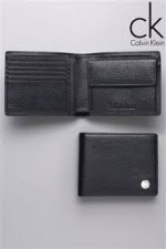 CK Black Leather Wallet With Coin Pocket
