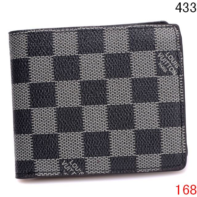 Checkered Designer Leather Wallets