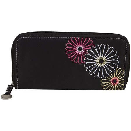 Flowered Ladies Leather Wallets