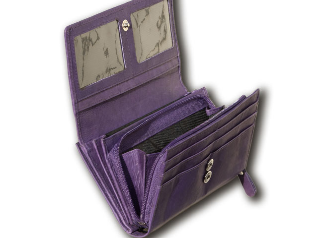 Purple Leather Ladies Wallets