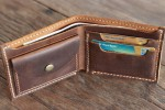 Check this Leather Wallet With Coin Pocket