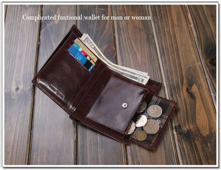 Beauteous Leather Wallet With Coin Pouch