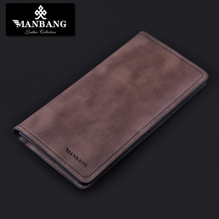 Manbang Mens Long Wallets Leather