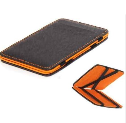 Orange Slim Wallets For Men