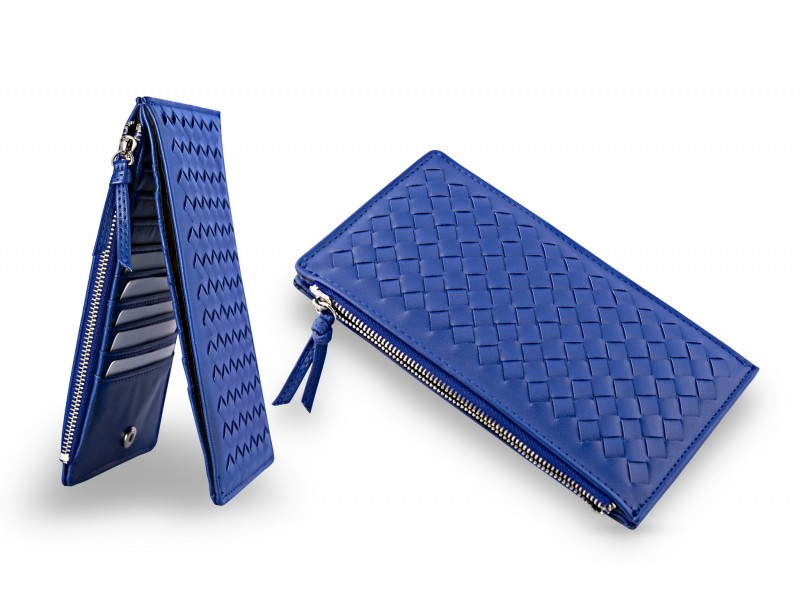 Cool Blue Card Holder Wallet