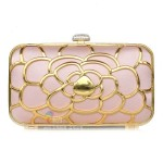 Gold Pink Clutch Bag