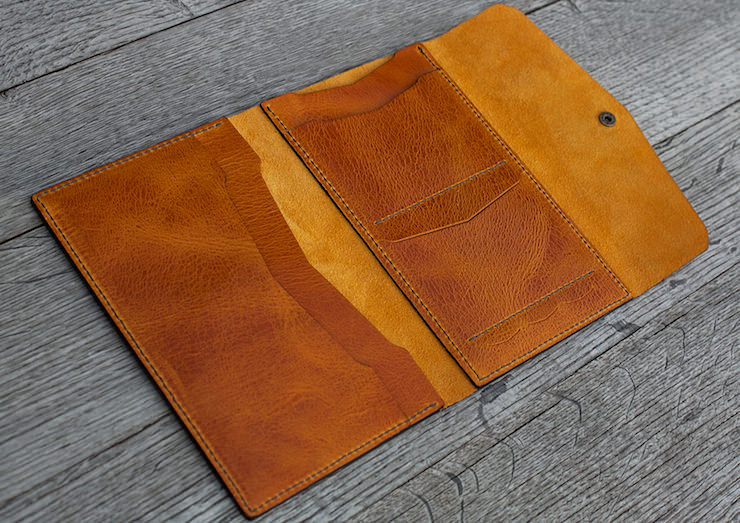 Manekibook Leather Travel Wallet