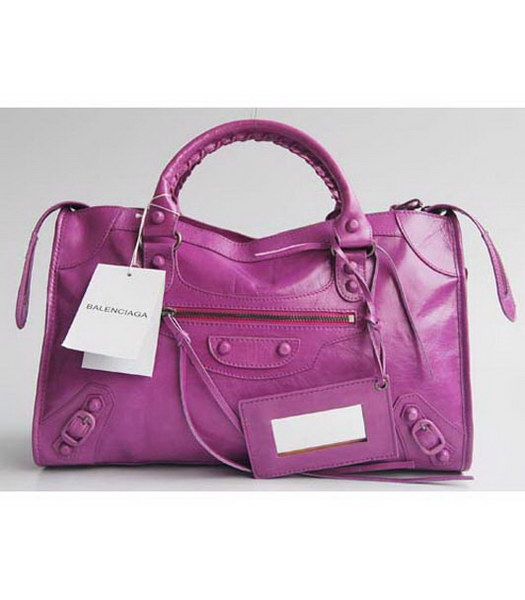 Balenciaga Purple Handbags