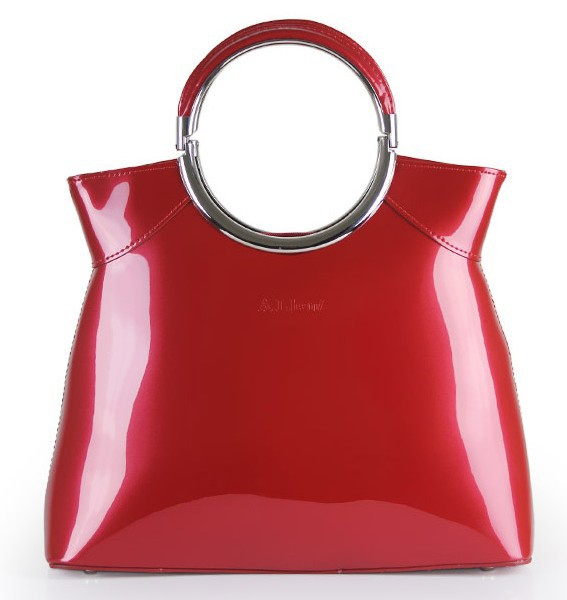 Shiny Red Handbags