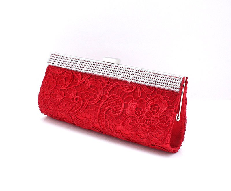 Laced Red Purse