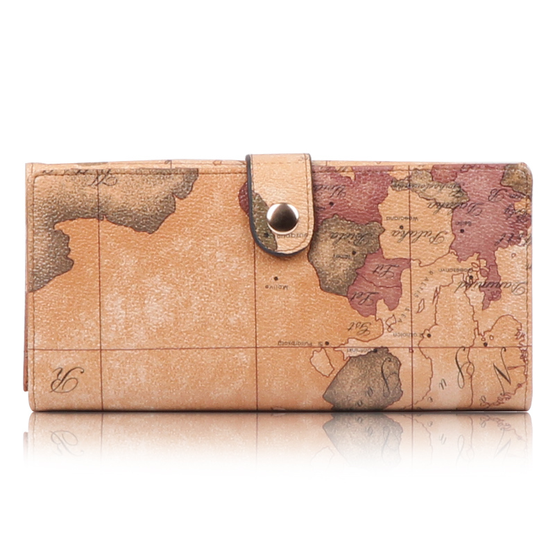 Popular Map Womens Wallet